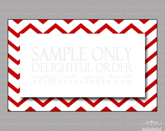 Editable Red Chevron Labels/Tags - (1) PDF Files & (1) PNG File - Instant Digital Download