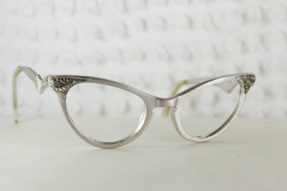 1950s Cat Eye Glasses Womens Eyeglasses Aluminum by ...