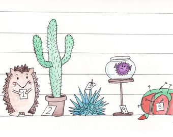The Usual Suspects: Spiky- 5x7 Print