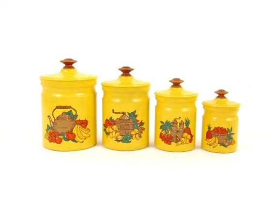 kitchen canister set yellow kitchen jar set metal canister set