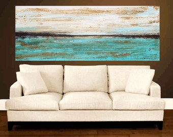 """painting xxl 72"""" x 30""""  abstract  painting Acrylic painting Wall Decor wall hanging   from   Jolina Anthony"""