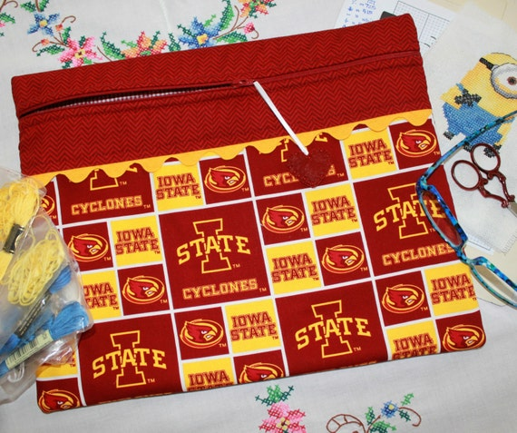 Iowa State University Cyclones Cross Stitch, Sewing, Embroidery Project Bag