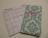 Personalized pocket Calendar 2yr. 2017-2018 (Blue)
