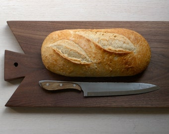 Walnut Cutting Board, Large Chopping Block, Bread Board, Serving Board