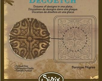 Vintaj BigKick Baroque Filigree DecoEtch Die Plate - Sizzix