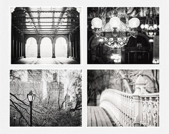 black and white print or canvas art set elegant city art urban photography vintage architecture pictures set of 4 landscape wall art