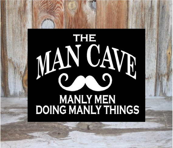 Cool Man Cave Signs : Man cave sign home decor guy room family wood