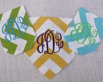 Custom monogrammed chevron pocket DIY sew on