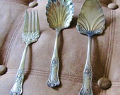 Royal Plate Co Beauty Rose 3-pc Serving Set Silverplate