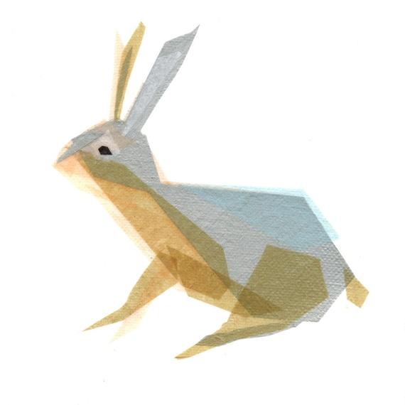 Ember Bunny - Animal Art Print