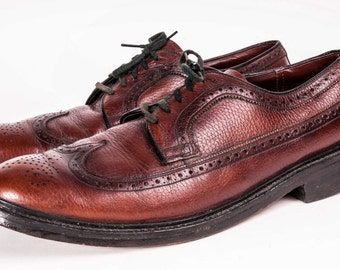 Wingtip Broughs Shoes Men's Size 10.5D by Nunn Bush
