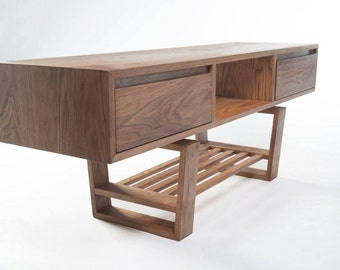 Mid century modern styled TV stand  in Butternut