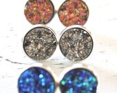 Druzy Earrings, Drusy Earrings, Drusy Post Earrings, Bridesmaids Gift, Bridesmaid Earrings, Valentines day gift