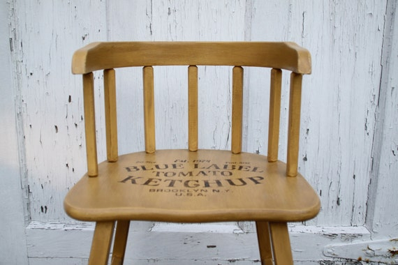 Items similar to cute typography accent chair upcycled for Cute side chairs