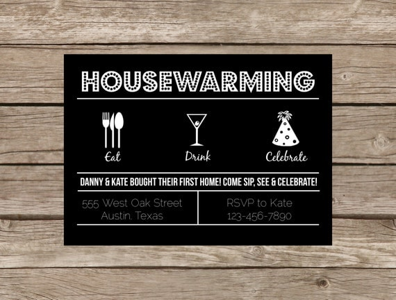 Unique Housewarming Invitations with good invitations example
