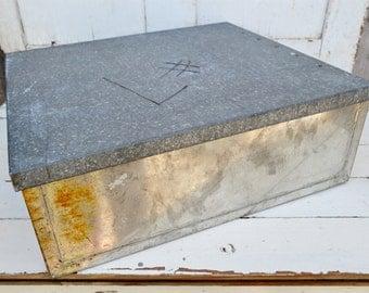 Galvanized Steel Box Steel Wheeling Softite Metal Stackable Storage Display Industrial Man Cave Garage
