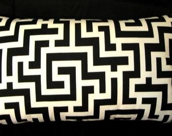 Black ivory cream  Pillow cover 14 X 24