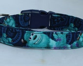 Monsters University Sully Dog Collar Size Extra Small, Small, Medium or Large