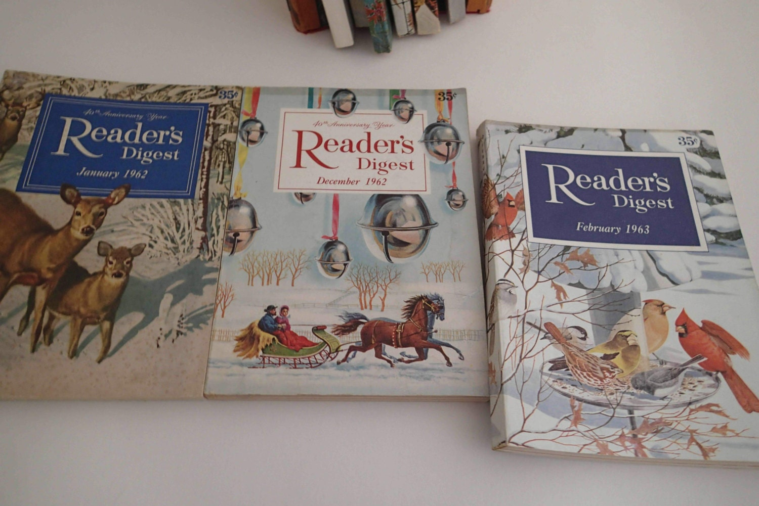 Vintage Issues Reader's Digest Magazines From The