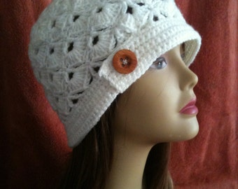 INSTANT DOWNLOAD Scalloped Scales Shells Beanie - Crochet Pattern
