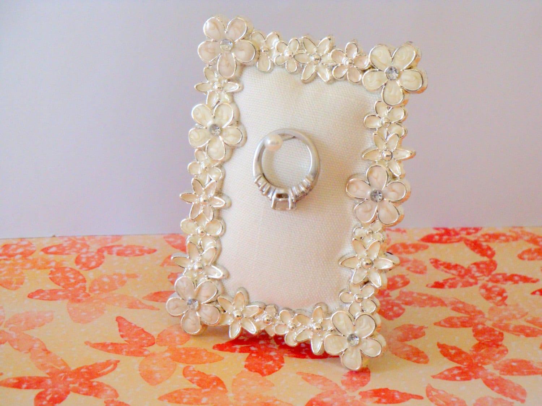 wedding ring holder rectangle pearl wedding ring holder zoom