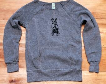 sit...stay...wander...Lab Sweatshirt, Dog Sweater, Labrador Retriever Shirt, S,M,L,XL