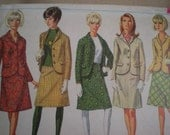 1966 Two Piece Suit, Simplicity Sewing Pattern 6685, Size 12, Bust 32