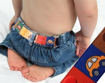 "Toddler Belt - Snap Elastic Belt - ""Cars"""