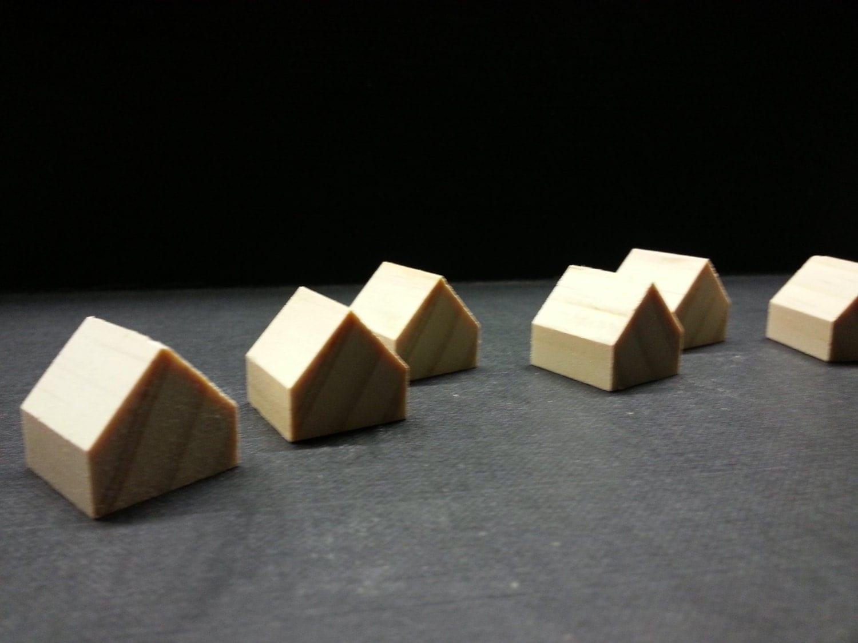 8 miniatur holzh user kiefer holz h user kleine h user. Black Bedroom Furniture Sets. Home Design Ideas