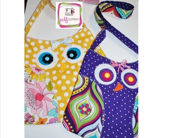 pdf Owl Tote Bag Sewing Pattern - INSTANT DOWNLOAD!!!