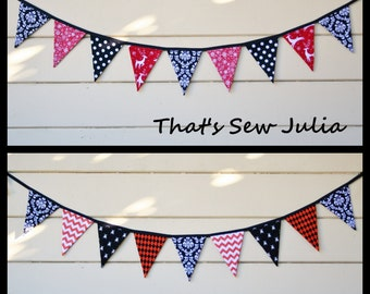 Double Sided 4.5 FT Elegant Christmas and Halloween Flag Bunting (Ready to Ship)