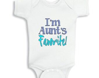 I'm Aunt's Favorite baby bodysuit