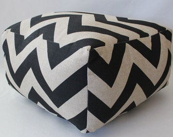 More Colors - Square Ottoman Pouf Floor Pillow Zippy Zig Zag Chevron