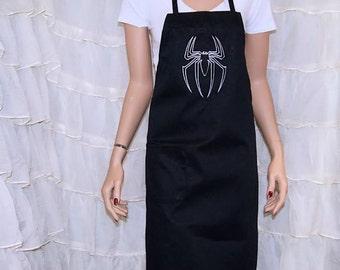 Spider Venom Embroidered Logo Black Cosplay Apron MTCoffinz