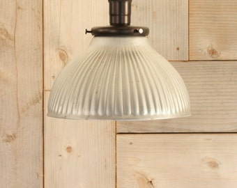 Ceiling Mount Light with Exposed Socket Design with Silver Vintage Mercury Glass Shade