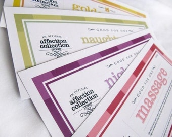 Printable Love Coupons - Valentine Vouchers - DIY Gift - Romantic Coupons