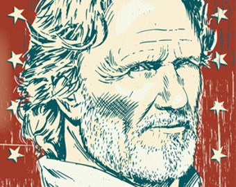 Kris Kristofferson - Pop Art Print - 18 x 24 and 24 x 36
