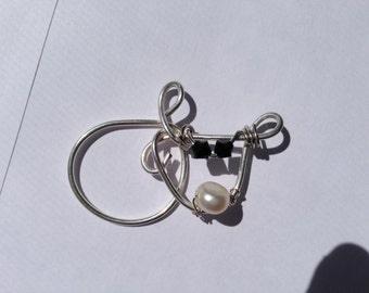 Cow, Reindeer, Cat, Sterling Silver Pendant, Lilyb444, Wirewrapped, jewelry,