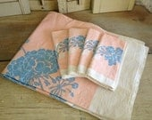 Table Cloth and Napkins Linen Set Vintage Linens