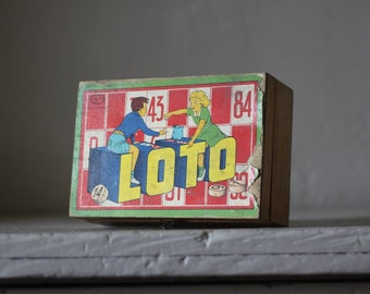 Vintage French Lotto Game