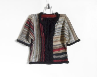 Knitted Baby Sweater - Multicolor, 9 - 12 months