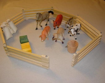 Wooden Toy Fence Combo