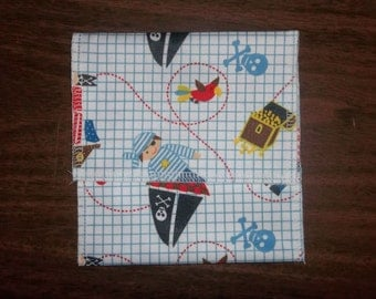 Nursing pad pouch Made with PUL Cute Pirates design