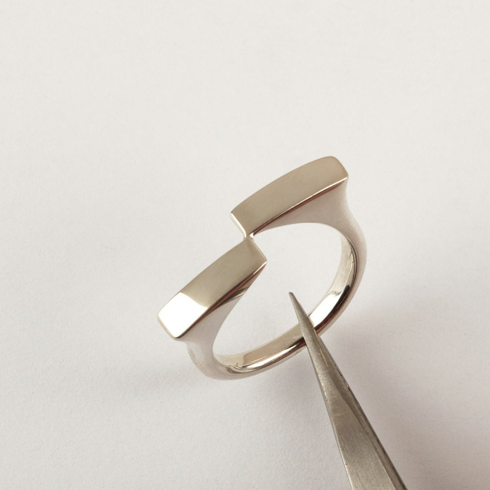 contemporary ring sterling silver minimalist ring delicate