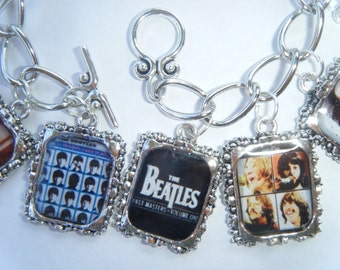 The Beatles Altered Art Charm Bracelet