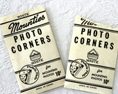 Vintage photo book white paper corners / 2 package lot / Mounties brand / retro 1940s or 1950s