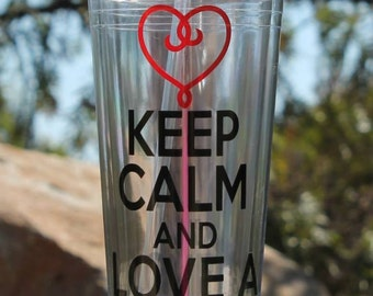 Custom/Personalized Keep Calm and Love a Medical Assistant Tumbler Great Medical Gift
