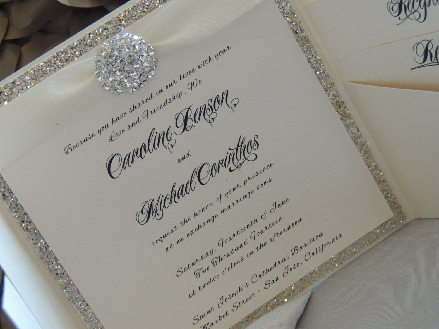 Sparkle Wedding Invitations and get inspiration to create nice invitation ideas