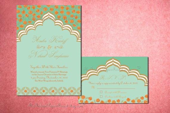 PALACE ROMANCE Indian Wedding Invitation Set Diy Printable Design Pdf Template Anniversary Engagement Party Destination Asian Moroccan Arab