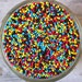 Sprinkles, 6 oz - Super Hero Non Pareils Mix (blue, red, yellow, black) - For Cupcakes - Ice Cream - Cake Pops - Cookies - Cakes - Desserts
